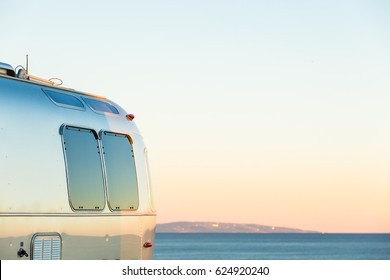 Winter RV camping on cost of California.