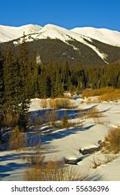 Winter scene in Colorado's Rocky Mountains