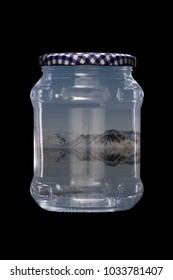 Winter Scene in a Glass Jar
