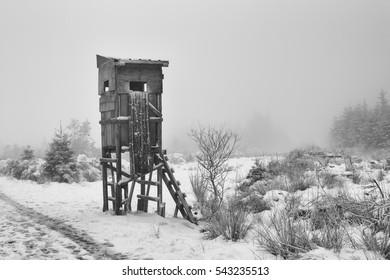 winter scene hunting