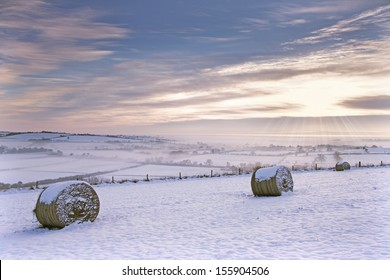 Winter Scene, Lincoln-shire wolds, Lincoln-shire, England.