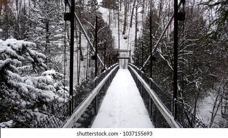 Winter Scene in Wendake