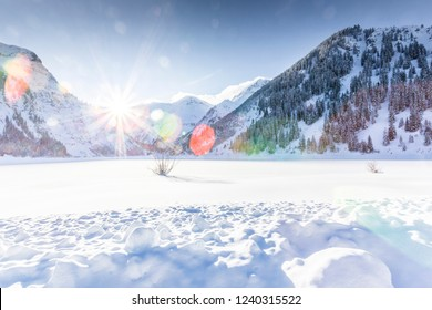 Winter scenery at the alps
