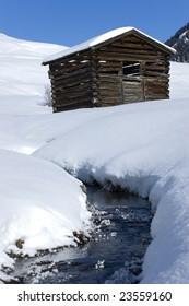 Winter scenery in the alps
