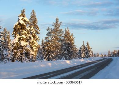 Winter scenery in Finland.