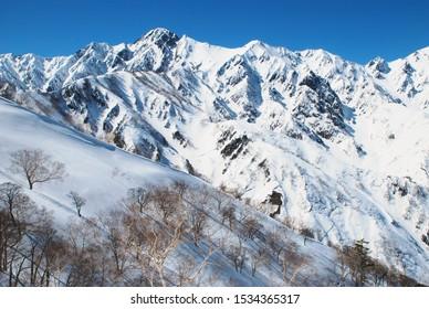 Winter scenery in Hakuba valley, Japan