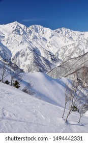 Winter scenery of Hakuba valley in Nagano, Japan