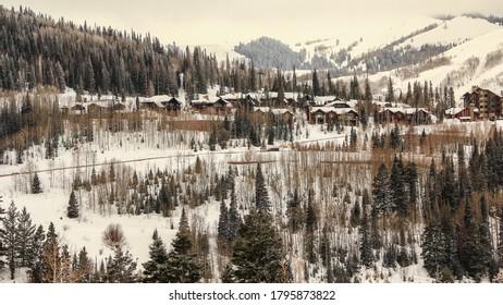 Winter Scenery Park City Utah