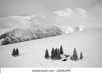 winter scenes, Parang ~Mountains, Romania.