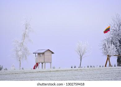 Winter season. Lithuania landscape
