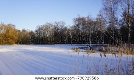 Winter Season Russia Moscow Stock Photo Edit Now 790929586