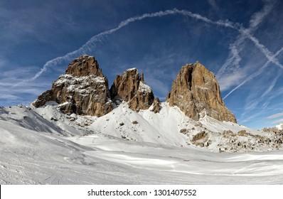 Winter Sella Ronda, Italy