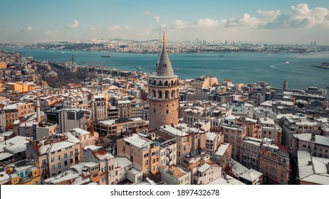 Winter shot from Istanbul. Galata Tower