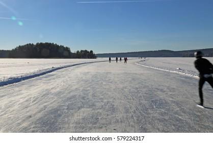 Winter skating