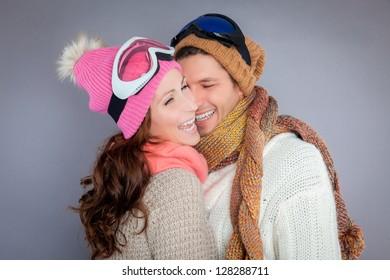 winter ski portrait