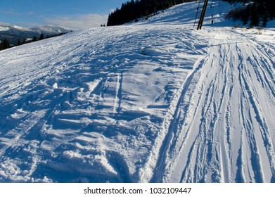 Winter ski resorts in Carpathian mountings