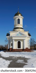 Winter small church