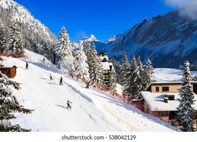 Winter sports in Switzerland, Villars-sur-Ollon.