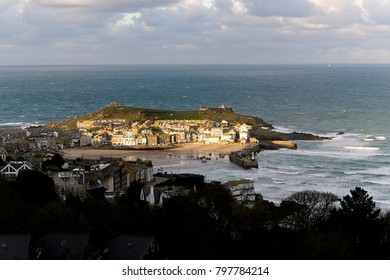 Winter Sun over St Ives Cornwall