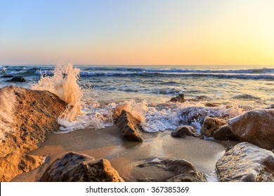 Winter sunrise on the beach