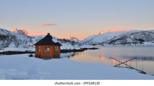 Winter Sunrise on Stonnesbotnen, Senja, northern Norway