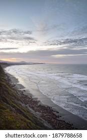 Winter sunrise over Cape Arago outside Coos Bay, southwest Oregon Pacific coast