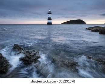 Winter sunrise at Penmon Lighthouse, Anglesey, Wales