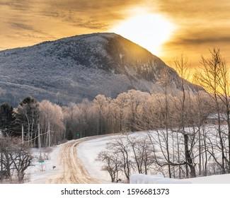 Winter Sunrise in Snowy Vermont