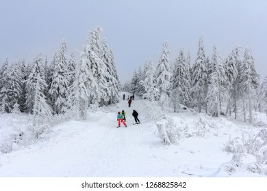 Winter in Szczyrk in Beskidy Mountains - New ski slope from Skrzyczne to Zbojnicka Kopa opened december 2018