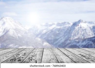 Winter table background