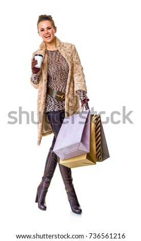 adfad4a5c Winter Things Full Length Portrait Happy Stock Photo (Edit Now ...