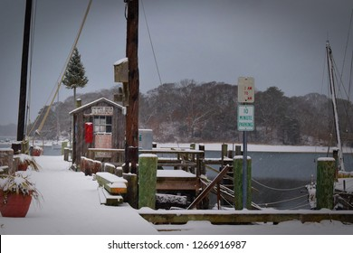 winter time dock