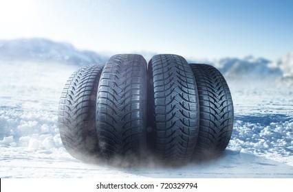 Winter tire on ice