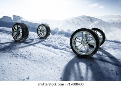Winter Tires (3D Rendering)