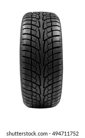Winter tires of a white background