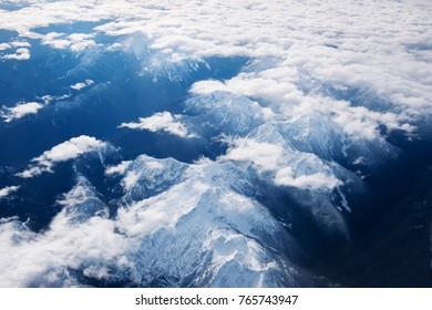 winter top view  mountain