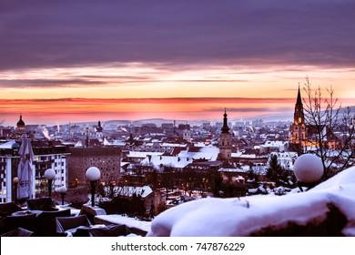 Winter in Transylvania.