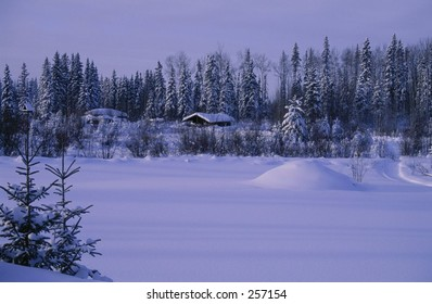 Winter Trappers Cabin