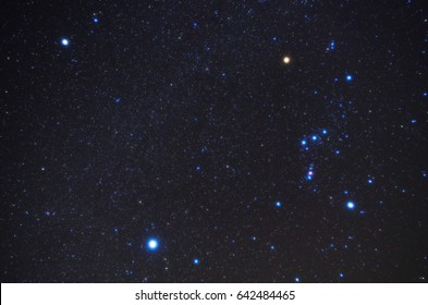 Winter triangle and Orion