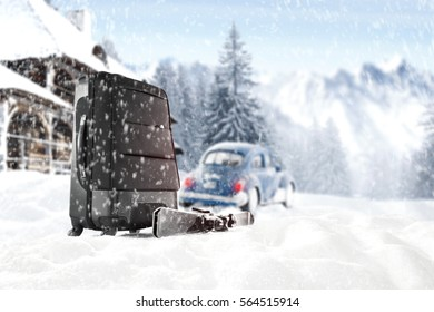 Winter trip and car