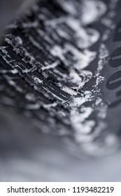Winter tyre in closeup