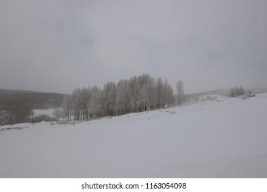 Winter in Utah along Scenic Byway 12