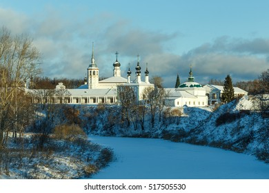 Winter view of the center of Suzdal