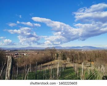 winter view to Croatian hills