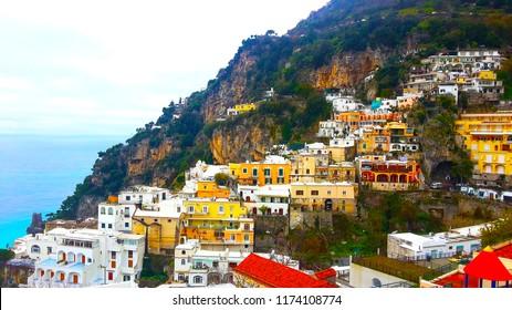 Winter View of Positano Italy