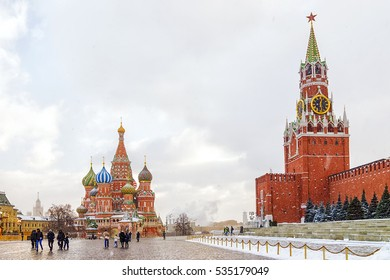 winter view of Red Square in Moscow