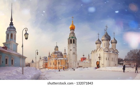 Winter view of Vologda