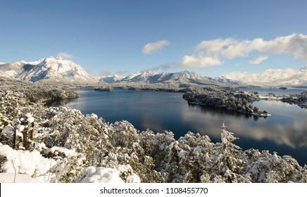 Winter Views of Tour Circuit in San Carlos de Bariloche, Patagonia, Argentina