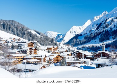 A Winter Village View over Lech, Austria