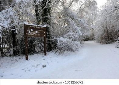 Winter in Warrington Sankey Valley Park